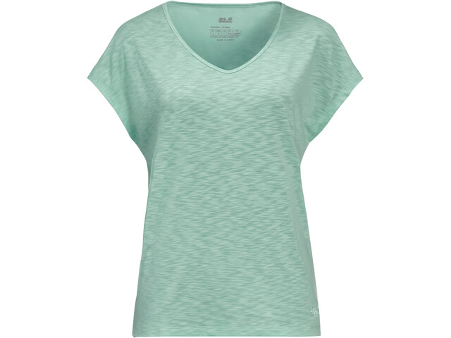 Jack Wolfskin Travel Tee Women, light jade
